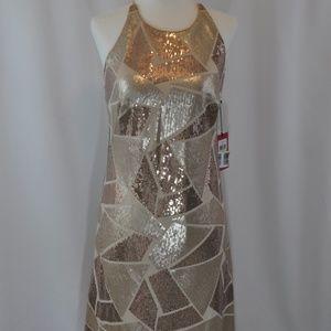 NWT Vince Camuto Sequin Spaghetti Strap Dress
